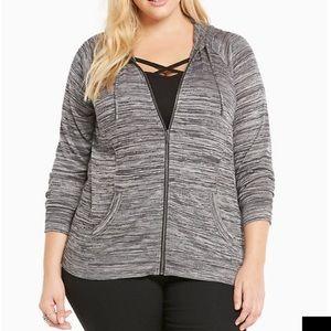 NWT torrid size 2 Marled zip up sweatshirt